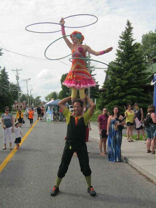 Duo cirque hoolahoop