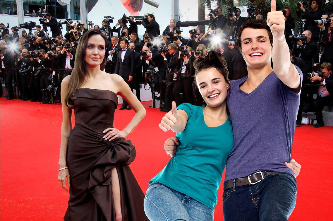 Tapis rouge avec Angelina Jolie
